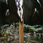 El Greco - Christ crucified with Toledo in the Background