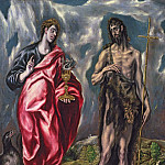 St John the Evangelist and St. John the Baptist, El Greco