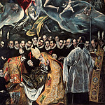 Burial of the Count of Orgaz, detail, El Greco