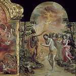 Modena Triptych - Adoration of the Shepherds, Allegory of a Christian Knight, and the Baptism of Jesus, El Greco