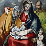 El Greco - The Holy Family with the boy St. John