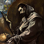 El Greco - Saint Francis of Assisi in meditation