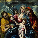 El Greco - The Holy Family with Mary Magdalen