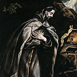 St. Francis praying, El Greco
