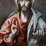Christ Blessing, El Greco