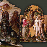 El Greco - Modena Triptych - Annunciation, Vision of Mount Sinai, Adam and Eve