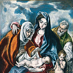 El Greco - The Holy Family with Saint Anne and the Infant John the Baptist