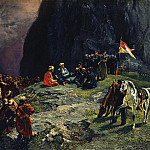 Исаак Левитан - The Meeting of General Kluke von Klugenau and Imam Shamil in 1837