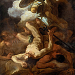 Biagio d'Antonio Tucci - The Archangel Michael Defeating Lucifer