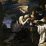 Guercino (Giovanni Francesco Barbieri) - Magdalen and Two Angels