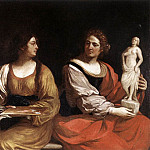 Guercino (Giovanni Francesco Barbieri) - Allegory of Painting and Sculpture