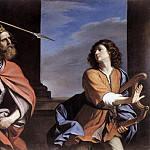 Guercino (Giovanni Francesco Barbieri) - Saul Attacking David
