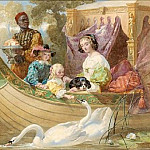 Queen Henrietta Maria And Her Children On The River, De Schryver Louis Marie