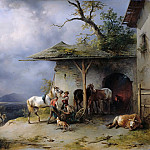 Eduard Gaertner - Tyrolean village smithy
