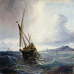 Theodore Gudin - Felucca with Smugglers off the Coast of Bilbao