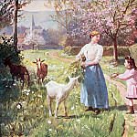 Victor Gabriel Gilbert - Easter Eggs in the Country, 1908