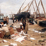 Victor Gabriel Gilbert - Sorting the Fish