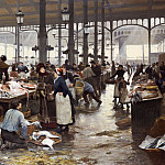 Victor Gabriel Gilbert - The Fish Hall at the Central Market, 1881