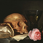 Thomas Gainsborough - A Vanitas Still-Life with a Skull, a Book and Roses