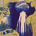 Hokusai - Amida Waterfall