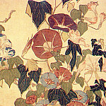Hokusai - morning glories and tree frog 1833