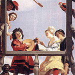 Gerard van Honthorst - Musical Group On A Balcony