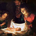 Uffizi - Adoration of the baby