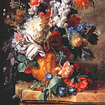 Jan Van Huysum - bouquet of flowers in urn 1724