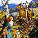 Arthur Hughes - Hughes Overthrowing of the Rusty Knight