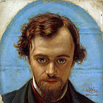 Portrait of Dante Gabriel Rossetti at 22 years of Age, Dante Gabriel Rossetti
