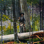 Winslow Homer - Hunter in Adirondacks, 1892, Watercolor over graphite,