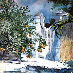 Winslow Homer - Orange Tree Nassau aka Orange Trees and Gate