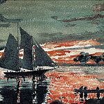 Winslow Homer - zFox SWD WH 19 Sunset Fire 1880