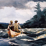 Winslow Homer - Canoe in the Rapids