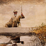 Winslow Homer - Fishing in the Adirondacks