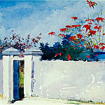 Winslow Homer - A wall, Nassau, 1898, 37.5x54 cm, Watercolor, Metropol