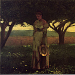 Winslow Homer - Girl in the Orchard