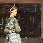 Winslow Homer - The Blackboard, 1877, watercolor, private collection