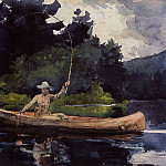 Winslow Homer - Playing Him aka The North Woods
