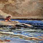 Winslow Homer - Rowing at Prout-s Neck