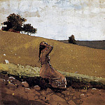 Winslow Homer - The Green Hill aka On the Hill