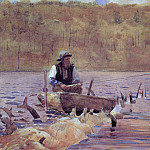 Winslow Homer - Man in a Punt Fishing