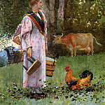 Winslow Homer - The Milk Maid