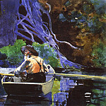 Winslow Homer - The Andirondak Guide, 1894, watercolor over graphite,