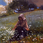 Winslow Homer - Girl and Daisies