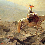 Winslow Homer - The Bridle Path, White Mountains, 1868, oil on canvas,
