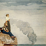 Winslow Homer - Fisherman-s Family aka The Lookout
