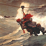 Winslow Homer - the life line 1884