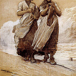 Winslow Homer - Fishergirls on Shore Tynemouth