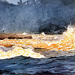 Winslow Homer - Fishing the Rapids Saguenay